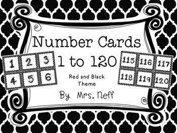 Black Theme Number Squares - For Number Lines and Charts