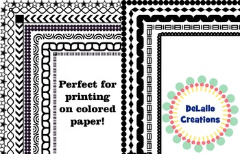 Black & White Border Package