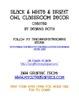 Black & White & Bright OWL Classroom Decor Pack 1
