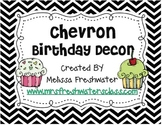 Black & White Chevron Birthday Decor