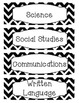 Printer Friendly Black & White Chevron Schedule Cards