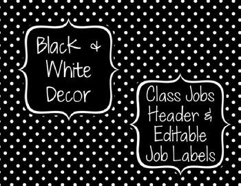 Black & White Decor: Class Jobs Header & Editable Job Labels
