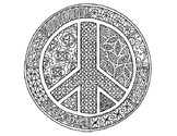 Peace Symbol Coloring Page