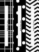 Black & White Decor: Editable Binder Covers & Spines