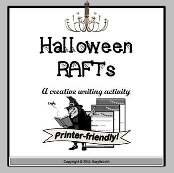 Black & White Halloween RAFT Writing Assignments