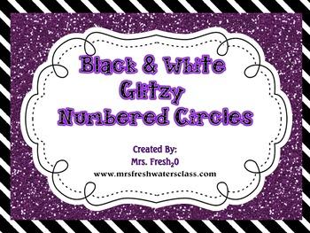 Black & White Library Bin Number Circles {Free}