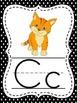 Black & White Polka Dot Alphabet Cards