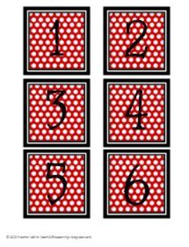 Black & White & Red All Over Calendar Center Kit