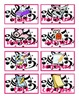 Black, White, and Pink Music Note Organization and Supply Labels