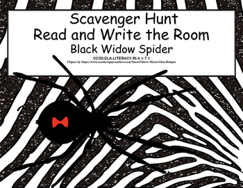 Black Widow Spiders- Scavenger Hunt- Read and Write The Ro