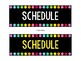 Black and Brights Schedule Cards