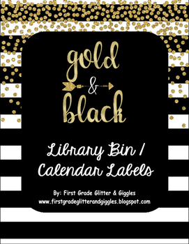 Gold & Black Labels: Leveled Library or Calendar