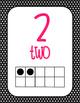 Black and Hot Pink Ten Frames