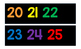 Black and Primary 1-120 Number Line + White and Primary 1-