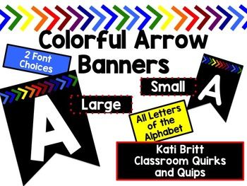 Black and Primary Banners: every letter, 2 sizes