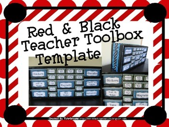 Black and Red Teacher Toolbox Template - Editable
