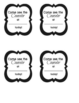 Black and White Appointment Cards 1
