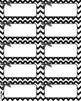 Black and White CHEVRON Editable Classroom Decor Tool Pack