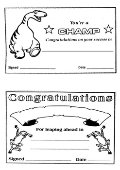 Black and White Certificates