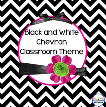 Black and White Chevron Classroom Theme