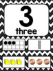 Black and White Chevron Number Posters 0-20