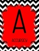 Black and White Chevron with Red CAFE Signs