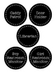 Black and White Classroom Job Labels