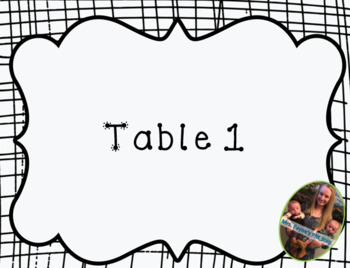 FREE Black and White Design Table Numbers