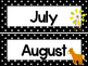 Black and White Farm 12 Months of the Year Labels.
