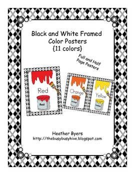 Black and White Framed Color Posters