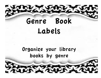 Black and White Genre Library Books Signs
