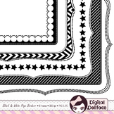 Black and White Page Borders, Doodle Frames