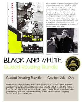 Black and White Paul Volponi Guide Reading Questions Bundl