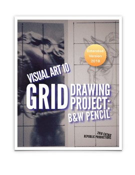 Black and White Pencil Grid Drawing Evaluation