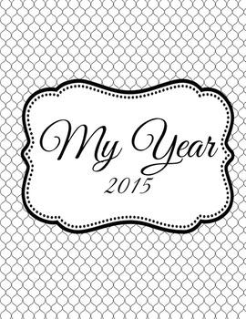 Black and White Personal Calendar / Organizer 2015