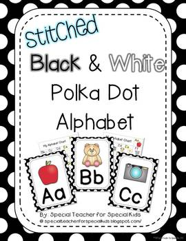 Black and White Polka Dot Alphabet Posters