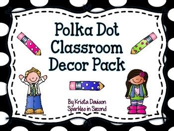 Black and White Polka Dot Classroom Decor Pack