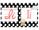 Black and White Polka Dot Cursive and Manuscript ABC Posters