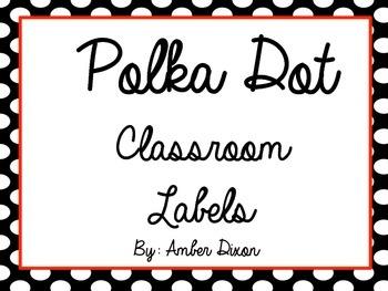 Black and White Polka Dot Labels