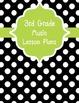 Black and White Polka Dot Music Lesson Plan Binder Covers