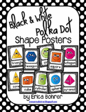 Black and White Polka Dot Shape Posters