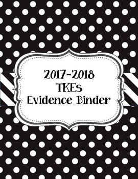 Black and White Polka Dot TKEs Evidence Binder 2016-2017
