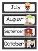 Black and White Quatrefoil Calendar Set