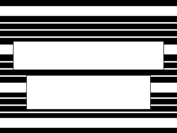 Black and White Stripe PowerPoint Template