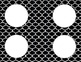 Black and White Tile Classroom Labels and Tags