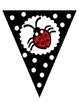 Black and White Welcome Banner - Lady Bug Theme
