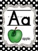 Black and white polka dot Alphabet Posters