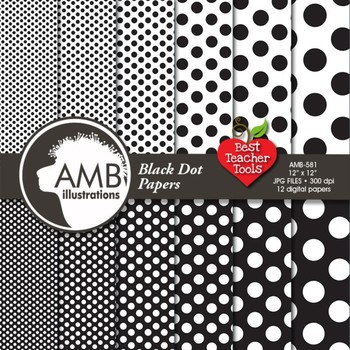 Digital Paper - Dot papers and backgrounds, AMB-581