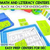 Stations:  Black ink ONLY for December