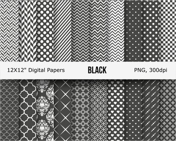 Black white digital pattern papaer background